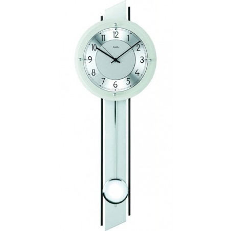 pendule murale chrome