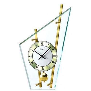 Montre de table laiton/chrome